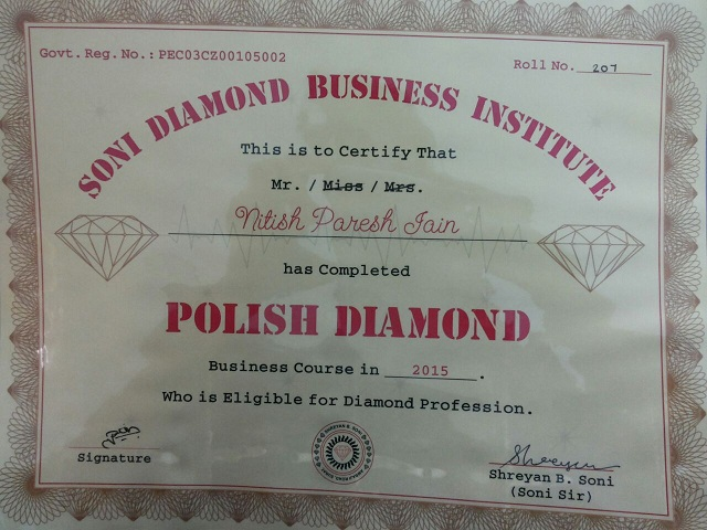 soni diamond business institute diamond classes surat